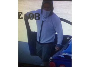 MRC des Collines-de-l'Outaouais police are looking for a man who pumped gas but didn't pay. MARTIN FOURNEL