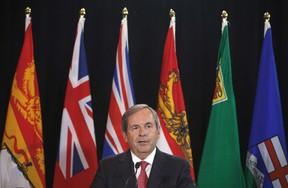 Canada's ambassador to the U.S., David MacNaughton, speaks during a press conference at the Council of Federation meetings in Edmonton Alta, on Tuesday July 18, 2017. (THE CANADIAN PRESS/Jason Franson)