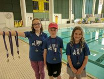 Six swimmers with the Wetaskiwin Olympians Swim Club brought earned aggregate medals at the Edmonton Huma meet July 15. Supplied photo.