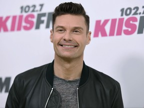 """In a Saturday, May 13, 2017 file photo, Ryan Seacrest arrives at Wango Tango at StubHub Center, in Carson, Calif. Seacrest will be back hosting """"American Idol"""" when it returns for a first season on ABC. (Richard Shotwell/Invision/AP, File)"""