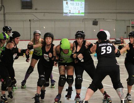 The Heartland Roller Derby Association (HRDA) won 335-144 against the Whitecourt Hot Rollers at the Sportsplex on July 15. The local derby club now has two home wins and one loss on the road for their season.