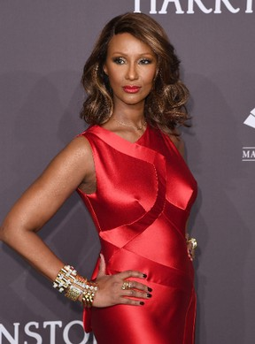 Model Iman attends the 19th annual amfAR's New York Gala to kick off NY Fashion Week at Cipriani Wall Street on February 8, 2017 in New York City. / AFP / Angela Weiss (Photo credit should read ANGELA WEISS/AFP/Getty Images)