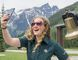 In this photo posted to Parks Canada's Facebook page on July 7, 2017, a young Parks Canada worker takes a selfie at Mount Revelstoke and Glacier national parks in British Columbia. (Facebook/Parks Canada)