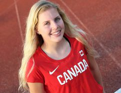 Ally Oulds of Chatham is on Team Canada for the 2017 Pan Am junior track and field championships in Trujillo, Peru. (MARK MALONE/The Daily News)