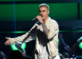 In this May 22, 2016 file photo, Justin Bieber performs at the Billboard Music Awards in Las Vegas. (Photo by Chris Pizzello/Invision/AP, File)