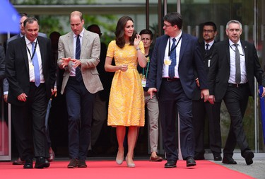 Prince William, Duke of Cambridge and Catherine, Duchess of Cambridge after a visit to the German Cancer Research Institute on day 2 of their official visit to Germany on July 20, 2017 in Heidelberg, Germany. (Dominic Lipinski - Pool/Getty Images)