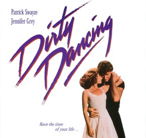 The movie poster for Dirty Dancing starring Patrick Swayze and Jennifer Grey released in the summer of 1987. (Vestron Pictures)