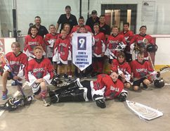 The Norfolk peewee Timberwolves swept Six Nations 3 in a best-of-three to determine the Ontario Lacrosse Association Zone 9 champions this month. Contributed Photo