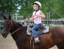 <p>Stella McConnery, 6, of Gatineau, getting in a practice session before competing in the Youth Division of the Western Show at the Avonmore Fair on Sunday, July 23, 2017, in Avonmore, Ont. </p><p> Todd Hambleton/Cornwall Standard-Freeholder/Postmedia Network