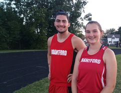 Brantford Track and Field Club athletes Cole Belkwell and Alexa Windle will compete at the 2017 Legion National Youth Track and Field Championship in Brandon, Man., next months as members of Team Ontario. (Submitted Photo)