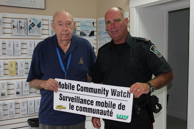 <p>Vince Taillon with Cornwall Community Police Service Const. Dan Cloutier on Monday July 24, 2017 in Cornwall, Ont. Taillon is a volunteer for the CCPS Mobile Community Watch program.</p><p>