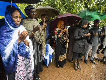 Members of the somali and Somerset community pray