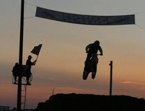 The motocross exhibition went on through the night on Saturday, July 22 at the Melfort Agricultural Society Grounds.