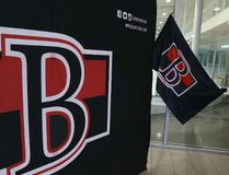 Jason Miller/The Intelligencer The Belleville Senators unveiled the new team logo at a private event Tuesday. The team's assistant general manager discussed the arduous process of bringing AHL hockey to the city during Tuesday's event.