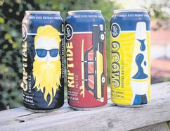 Forked River's Capital Blonde Ale, Riptide Pale Ale and Mojo Rhubarb Wit are now available in 473-millilitre cans.