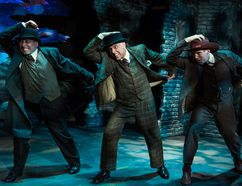 Mark McGrinder, from left, Jamie Williams and Adrian Shepherd are among the cast members of Baskerville: A Sherlock Holmes Mystery. The comedy runs July 26-August 12 at the Lighthouse Festival Theatre in Port Dover. Contributed photo