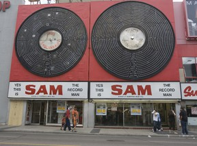 The Sam the Record Man sign seen on Yonge St. in Toronto in 2006.
