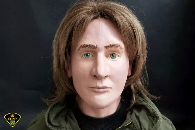 Human remains of a Caucasian male aged 18-29 years were found near marker number five on the Hardwood Lookout Trail in Algonquin Park on April 19, 1980. The OPP has created a three-dimensional reconstruction of the man's likely appearance, and is seeking public help in identifying the individual. Evidence found at the scene indicates his death occurred between July 1, 1971 and spring of 1978. (Image supplied)