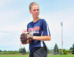 Simcoe's Meagen Crandall, 14, will compete with Team Ontario for the second straight year at the Baseball Canada 16U Girls Invitational Championships in Vaughan this August. JACOB ROBINSON/Simcoe Reformer