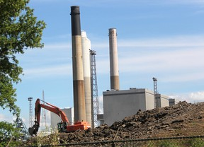 Environmental work like capping fly ash and a sludge pond is underway at the Lambton Generating Station site in St. Clair Township. Ontario Power Generation says the plan is to next year contract for demolition. *(Tyler Kula/Sarnia Observer/Postmedia Network)