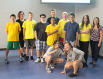 Volunteer Airdrie's LEAD class pose for a photo at Genesis Place on Monday, July 24, 2017. This was the first of two summer programs locals can join.