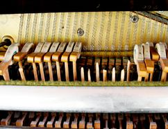 The vandals snapped the heads off the public piano's hammers. (RONALD ZAJAC/The Recorder and Times)