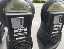 BRUCE BELL/THE INTELLIGENCER Old fashioned parking meters are a thing of the past in the downtown core of Picton and will be replaced by 22 new pay stations by the end of September.