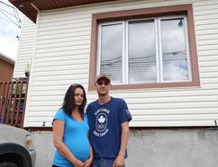 Two males broke into Shannon Barbeau and Adam Lecompte's apartment in Sudbury, Ont., by entering a window. John Lappa/Sudbury Star/Postmedia Network