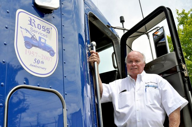 David Ross, owner of Ross' Towing, was recently honoured with an industry lifetime achievement award and can be seen on the Discovery Channel show, Heavy Rescue 401. (CHRIS MONTANINI, Londoner)