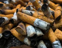 This file photo taken on April 18, 2016 shows smoked cigarettes in an ashtray on in Centreville, Virginia. PAUL J. RICHARDS/AFP/Getty Images
