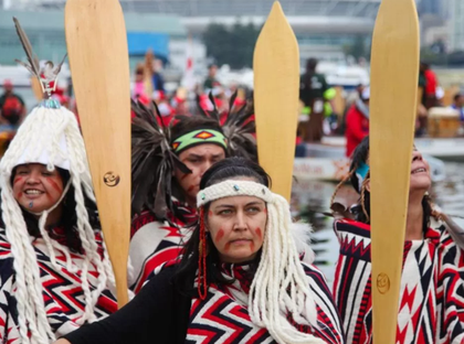 First Nations' gather in False Creek