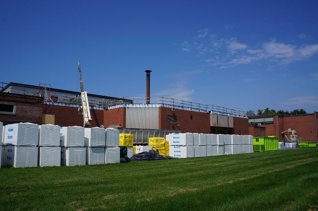<p>Construction projects underway to maintain Cornwall Collegiate and Vocational School for the time being, seen on Monday July 31, 2017 in Cornwall, Ont. </p><p>