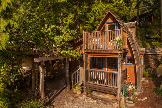 "<p><a href=""https://www.airbnb.ca/rooms/975964?location=canada&s=2sT9ATX5""><strong>Cabin #3 – Alfie the A-Frame – Sechelt, B.C. - from $119 per night.</strong></a></p>