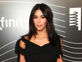 Kim Kardashian attends the 20th Annual Webby Awards in New York May 16, 2016. (Andy Kropa/Invision/AP)