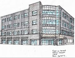 <p>Handout/Cornwall Standard-Freeholder/Postmedia Network</p><p> An architect's concept drawing for the latest iteration of the First on Second development on the corner of Pitt and Second streets in Cornwall.