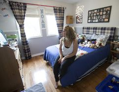 Tanya Brancallion Jarosz's son Noah was killed by her husband in 2012. She sits in Noah's room on Wednesday, August 2, 2017. (CRAIG ROBERTSON/TORONTO SUN)