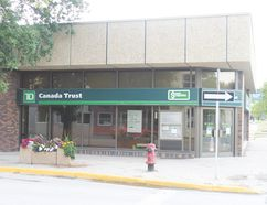 Carman's TD Canada Trust bank branch is set to close August 18. (EMILY STOBBE-WIEBE)