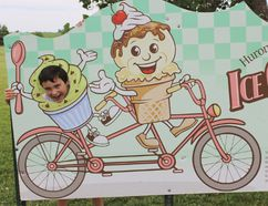 You can stop at nine different locations to try you favourite ice cream flavours while participating in the Huron-Kinloss Ice Cream Trail. The trail extends through Huron-Kinloss' communities and the first 1,000 participants get a free t-shirt. The trail can be completed in one day or over several days as part of a family adventure. For more information about how to play go to www.icecreamtrail.ca. L-R: Hans and Linda Bakelaar believe in ice cream and classic cars when participating in the Huron-Kinloss Ice Cream Trail adventure.