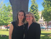 Meighan Wark (left) was appointed the interim CAO for Huron County, while Brenda Orchard (right) is moving on.