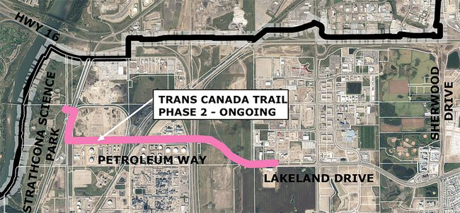 More than $800,000 has been put toward the Trans Canada Trail, which will link Strathcona County to Fort Saskatchewan and Edmonton. Photo supplied.