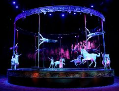 The production of Odysseo by Cavalia mixes live performances - humans and horses - with plenty of technical wizardry. David Bloom/Postmedia Network