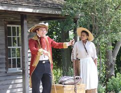 Bright Star Theatre performers tell the story of the Underground Railroad at Uncle Tom's Cabin in Dresden to mark Emancipation Day. (Trevor Terfloth/The Daily News)