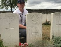 Dwane Burke went on the Pilgrimage of Remembrance in July.