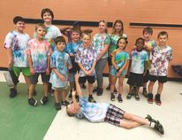 One of the many activities enjoyed by the summer students was a tie-dye, t-shirt activity and contest. photo supplied