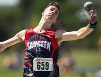 Saugeen Track and Field Club member Ryan Jacklin earned a Silver medal in Shot Put at the Athletics Ontario Championships in Brampton July 29-30. Team mate Jeremy Elliott earned Gold. Submitted photo