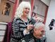 George Harrison (right) came to Leduc in 1950, and he's been a patron of Hilda Holloway and Playgirl Hair Stylists ever since they've been in business. The salon is giving away a free hair cuts to patrons who purchase four for themselves or their family this year. (Kevin Pennyfeather/Rep Staff)