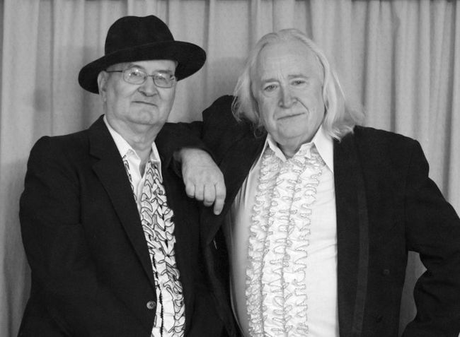 Twin Spin — Doc Johnson (left) and Phil Scott — will perform in Brantford's Harmony Square on Aug. 18 at 7:30 p.m. (Submitted photo by Sandra Anderson)