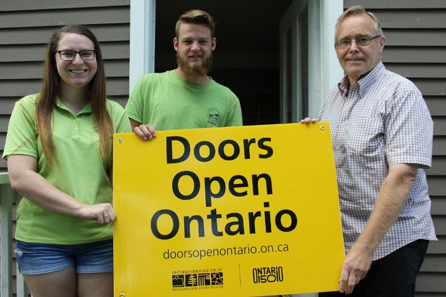 <p>The Lost Villages Museum is getting ready for Doors Open Ontario on Wednesday August 9, 2017 in Long Sault, Ont. Summer students Lindsay Levasseur and Gardner Sage, with Jim Brownell, are ready to welcome everyone to the museum Aug. 19-20.</p><p>