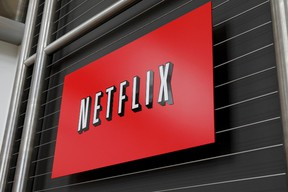 The Netflix company logo at Netflix headquarters in Los Gatos, California. (RYAN ANSON/AFP/Getty Images)
