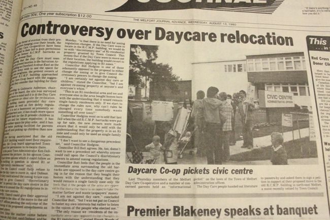 This week's Throwback Thursday goes back to 1980 and some controversy in Melfort about daycare relocation.